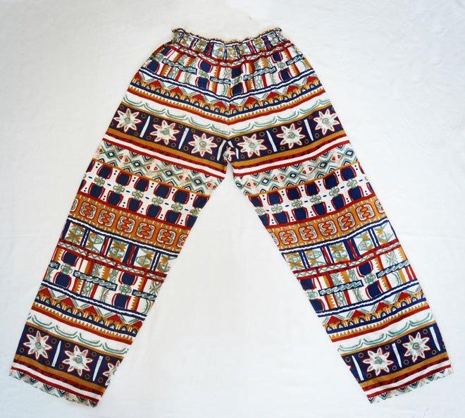 c8466e1c38024 voľné letné nohavice s indiánskym vzorom
