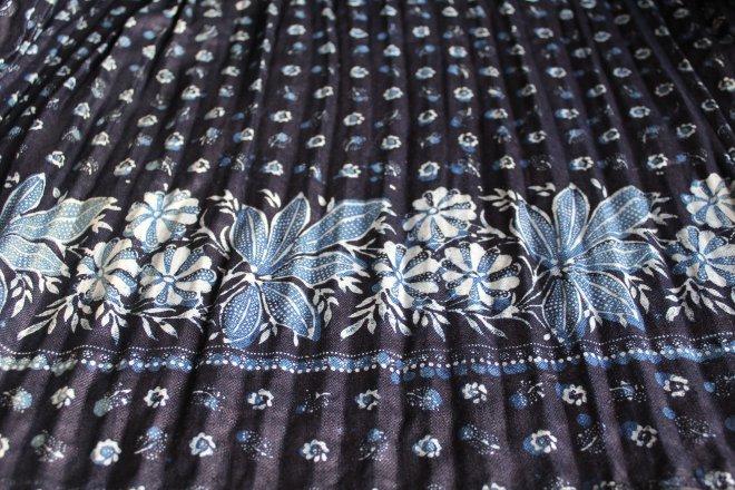 Detail modrotlačovej sukne zo Štrby