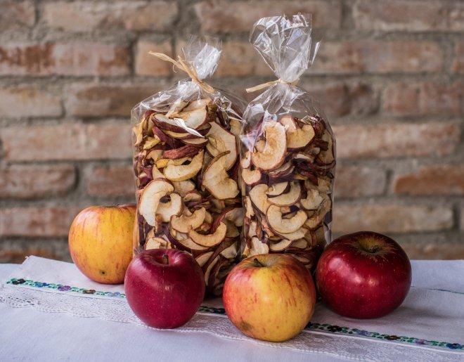 Sušené jablkové mesiačiky