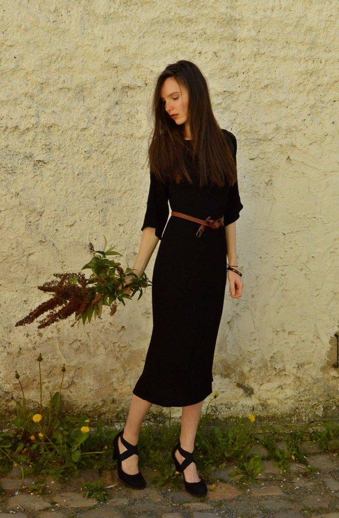 Čierne multifunkčné Boho šaty od návrhárky zo Slovenska.