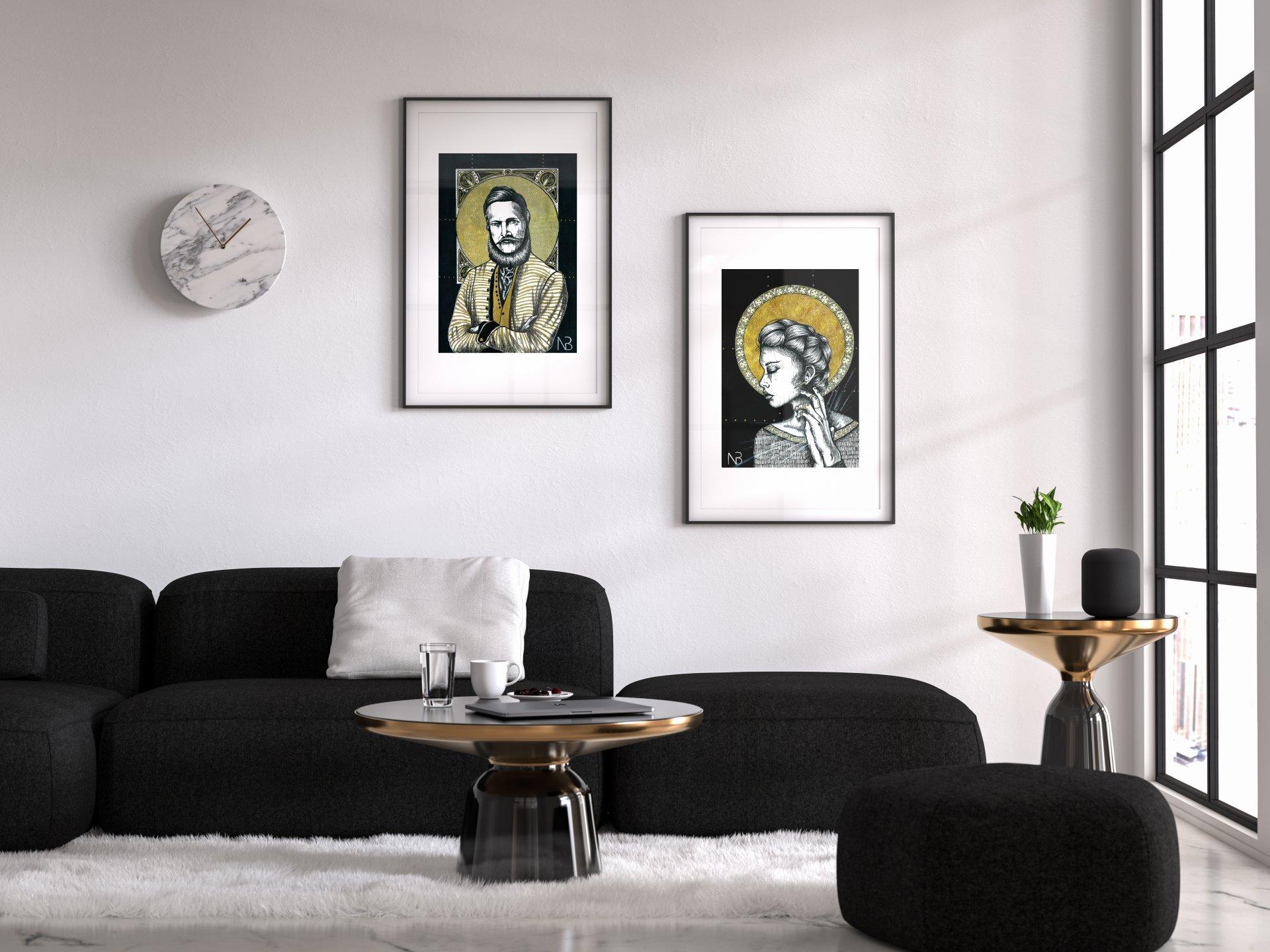moderný interiér slovenské obrazy