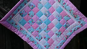 Textil - Patchwork deka s menom - 6911337_
