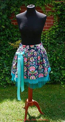 Sukne - Folk Bloom, pás 75 cm - 6910661_