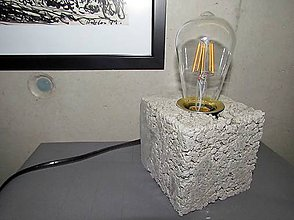Svietidlá a sviečky - Betónová lampa RENA - 6912422_