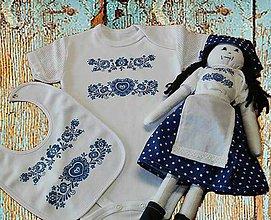 Detské oblečenie - Súprava Modrá folk - 6912394_
