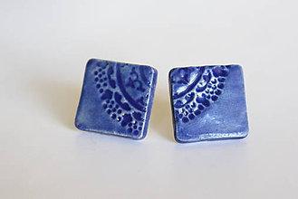 Náušnice - keramické náušnice - ľadový bozk - 6910395_
