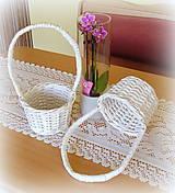 Košíky - dekoračný na ružové lupienky - 6910327_