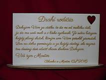 Darčeky pre svadobčanov - Poďakovanie rodičom preglejka 6 - 6910534_