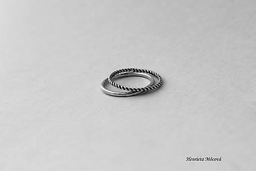 Strieborné prstene - set 2ks   HenrietaMocova - SAShE.sk - Handmade ... 8ca3bd1a992