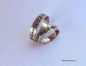 Prstene - Zlaté obrúčky - Novohrad / Šariš - 6910451_