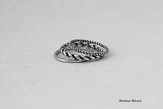Prstene - strieborné prstene - set 3ks - 6910462_