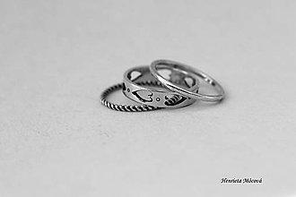 Prstene - sada strieborných prsteňov - folk Banská Bystrica - 6910472_
