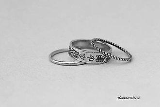 Prstene - sada strieborných prsteňov - folk Bratislava - 6910473_