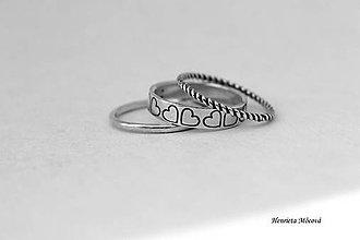Prstene - sada strieborných prsteňov - folk Košice - 6910474_