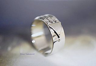 Prstene - Atlantský prsteň zo striebra - 6915621_