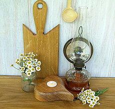 Svietidlá a sviečky - Svietnik - srdce z borovicového dreva (vyčesané) - 6914458_