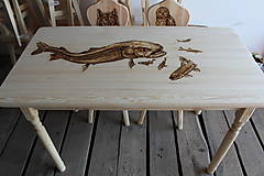 Nábytok - Drevený stôl, stoličky - 6915465_