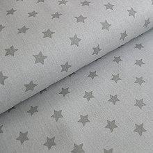 Textil - Béžovo-šedé hviezdičky - 6913117_