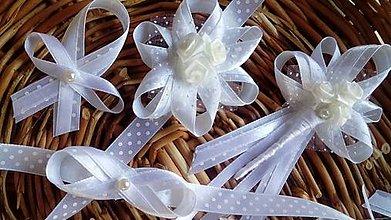 Pierka - Biele svadobne pierka - sada - 6913099_