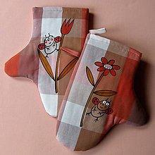 Úžitkový textil - NA KVÍTKU - chňapky - 6915760_