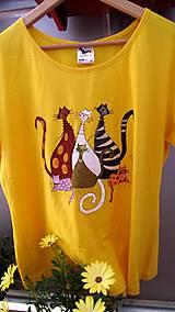 Tričká - Tričko s mačičkovskou rodinou - 6915497_