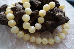 Minerály - Jadeit žltý 10mm - 6913253_
