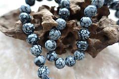 Minerály - Obsidián vločkový 10mm - 6913373_