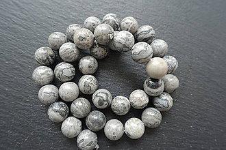 Minerály - Jaspis sivý 10mm - 6913822_