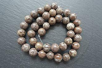 Minerály - Jaspis hnedá vločka 10mm - 6913844_