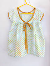 """Detské oblečenie -  Low Back šaty krátke """" Kvapky piesku"""" - 6915861_"""