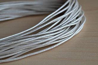 Suroviny - Kožená šnúrka perleťová biela 1.8mm, 0.88€/ks - 6912971_