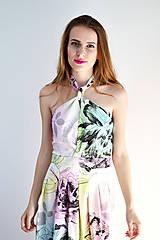 Šaty - Kvety vo farbách dúhy - šaty - obrovská zľava - 6914802_