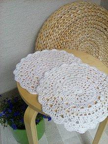Úžitkový textil - Háčkovaný obrúsok - 6914685_