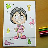 Kresby - Komixová postavička 2 (ona) - 6913894_