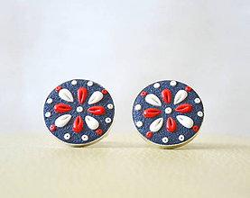 Šperky - Folk manžetové gombíky - okrúhle - 6918439_
