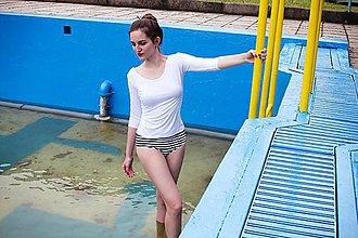 Bielizeň/Plavky - BAMBOO pruhované kalhotky - 6916521_