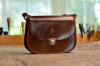 Kabelky - kabelka kožená MINIAKTOVKA  double/ jednofarebná, ručne farbená - 6918543_