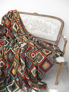 """Úžitkový textil - Chalupárska deka """"Lady Klimt"""" II. - 6917995_"""