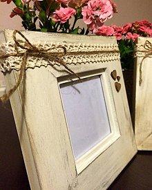 """Rámiky - dreveny ramček na fotku """"Romantic chabby"""" - 6918601_"""
