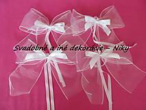Darčeky pre svadobčanov - Mašle na auto - 6916026_