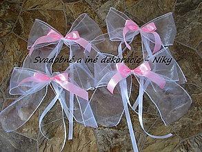 Darčeky pre svadobčanov - Mašle na auto - 6916022_