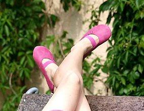 Obuv - Pura - ultra barefoot balerínky - ružové - 6918652_