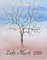 Obrazy - Svadobný strom maľovaný - 6918308_