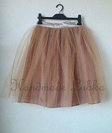 Sukne - Tylová suknička, kávová hnedá, veľ. S-M - 38 - 6918687_