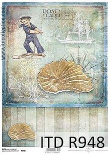 Papier - ryžový papier morský motív - 6916833_