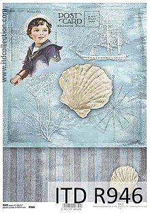 Papier - ryžový papier morský motív - 6916893_