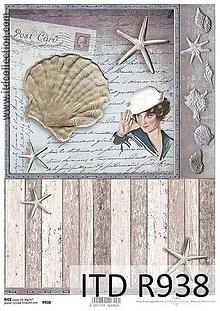 Papier - ryžový papier morský motív - 6917947_