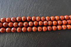 Minerály - Jaspis červený fazetovaný 8mm - 6917111_