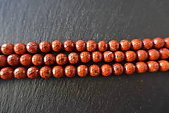 Minerály - Jaspis červený fazetovaný 8mm - 6917112_