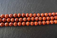 Minerály - Jaspis červený fazetovaný 8mm - 6917113_